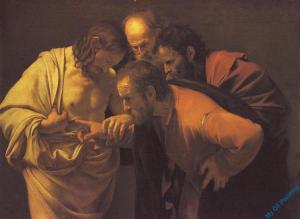 Incredulity of Saint Thomas  by Carvaggio ca. 1602