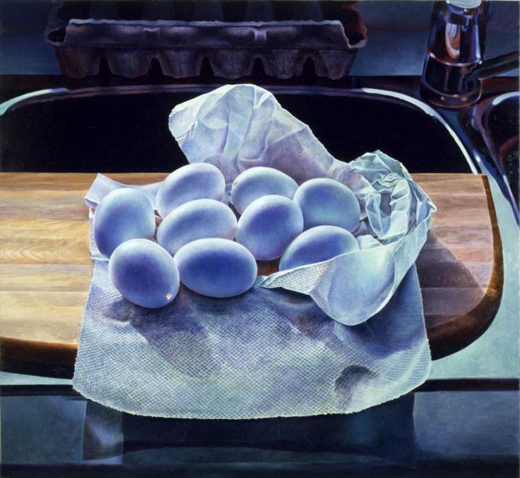 Mary pratt hollowed Eggs